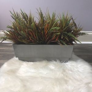 Faux plant and vase